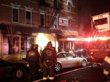 A fire gutted a Ridgewood Avenue bodega early Thursday Feb. 14, 2013.