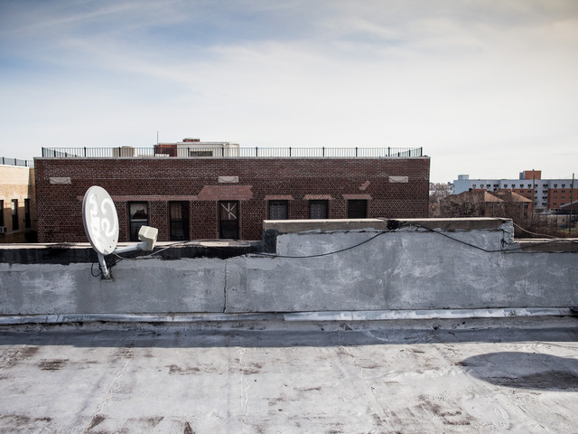 <p>The rooftop of the building on Nelson Avenue in the Bronx where a 9-year-old boy fell on Feb. 1st, 2013.</p>