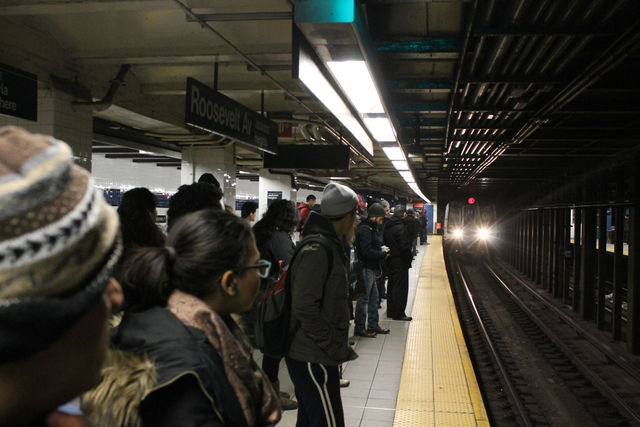 <p>A man was hit by an F train at Roosevelt Avenue-Jackson Heights station Wednesday.</p>