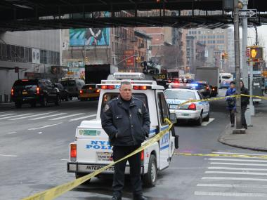 A 69-year-old woman was fatally struck by a car on 41st Street and Ninth Avenue Tuesday morning, officials said.
