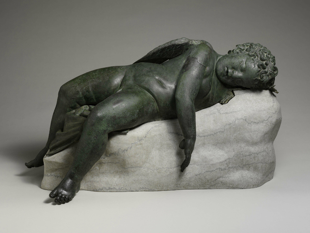 <p>This bronze sculpture dates to the Hellenistic era of the Classical world, during approximately the 2-3 century B.C. It is thought to originate from Rhodes.</p>