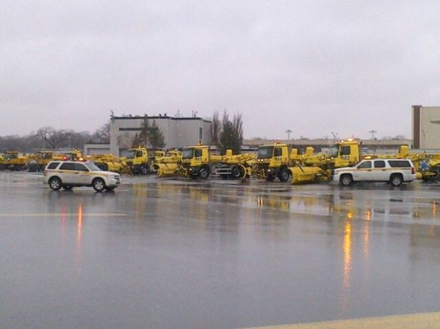 <p>Snow removal equipment at LaGuardia Airport Feb. 8, 2013.</p>