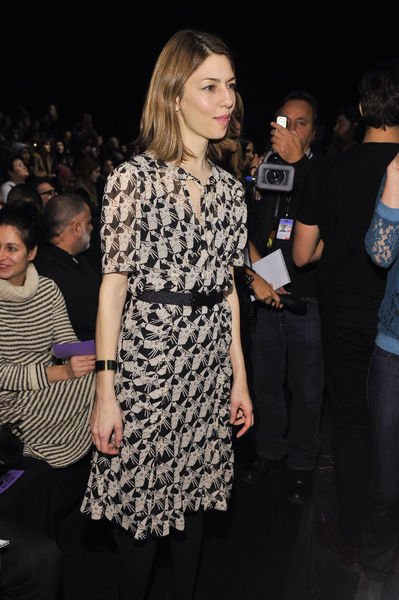 <p>Sofia Coppola at the Anna Sui show at Lincoln Center, Wednesday, February 13, 2013.</p>