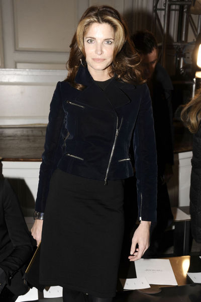 <p>Stephanie Seymour at the Jason Wu show on Park Avenue, Friday, Feb. 8, 2013.</p>