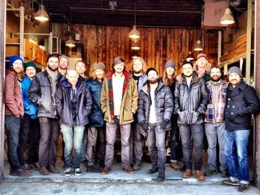 Stumptown Coffee employees pose for a photo at Stumptown's Red Hook roastery, which reportedly reopened Monday, Feb. 4, 2013, for the first time since Hurricane Sandy. 'Hello world,' Stumptown wrote on its Twitter feed. 'Our Brooklyn Roastery is back after a large recovery effort. A huge thanks to all that supported us during this process, we are proud and grateful. #sandyrecovered #backtowork.'
