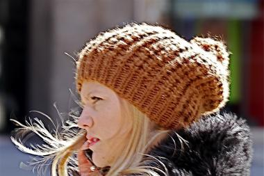 In search of the winter's statement knit hats on the streets of New York City.