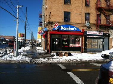 Bryan Antoine, 19, was shot to death after buying pizza from this Domino's branch in East Flatbush late Friday night, Feb. 8, 2013.
