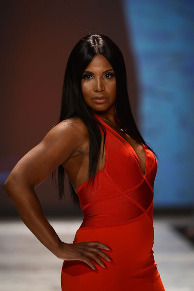 <p>Toni Braxton, wearing Herve Leroux, at the Heart Truth Red Dress Collection at the Hammerstein Ballroom in Midtown.</p>