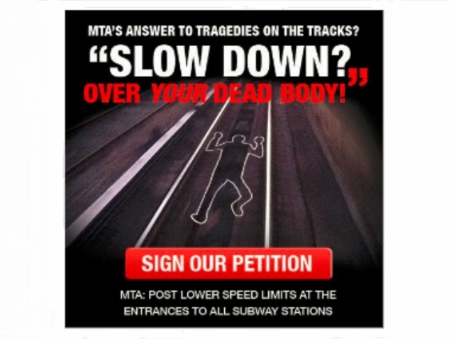 <p>TWU Local 100 has launched a campaign to slow down trains as they approach stations, following a spike in straphanger deaths.</p>