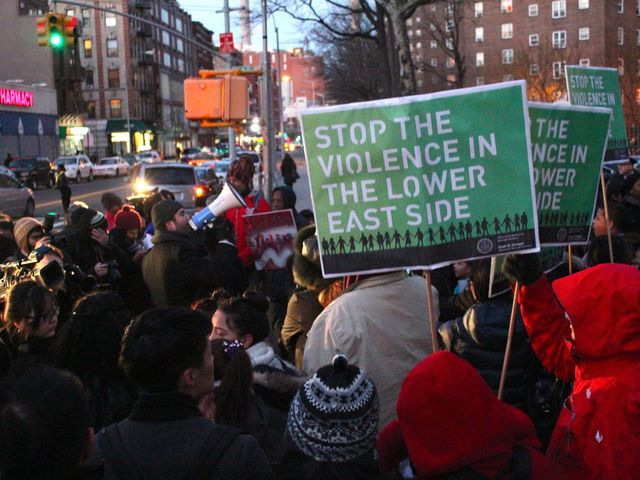 <p>Hundreds of local residents marched through the streets as a show of unity against a spate of Lower East Side shootings in recent months.</p>