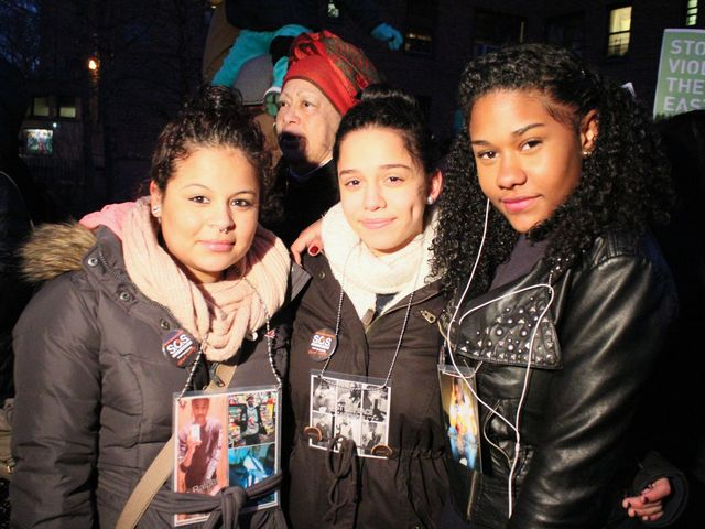 <p>Amanda Acosta (left), a friend of slain teen Raphael Ward, said the neighborhood has not been the same since he was killed at the beginning of January.</p>
