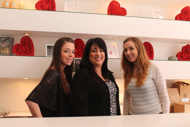 <p>Staff at Pure Spa and Salon at 40-15 Queens Blvd. in Sunnyside, where the business is offering a number of deals for Valentine&rsquo;s Day, including a &ldquo;Love Hurts&rdquo; waxing special, specials on makeup appointments, facials and couples massage packages.</p>