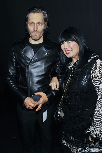 <p>Vincent Gallo and Anna Sui at the Anna Sui show at Lincoln Center, Wednesday, February 13, 2013.</p>