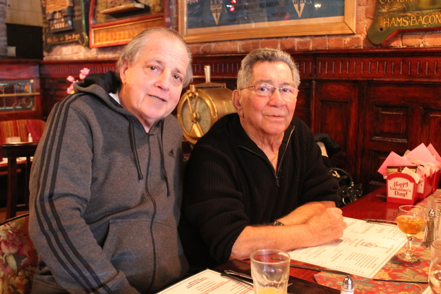 <p>Frank Marmo and Mike Iannizzi have been regulars at The Waterfront Crab House, at 2-03 Borden Ave. in Long Island City, since it first opened over three decades ago.</p>