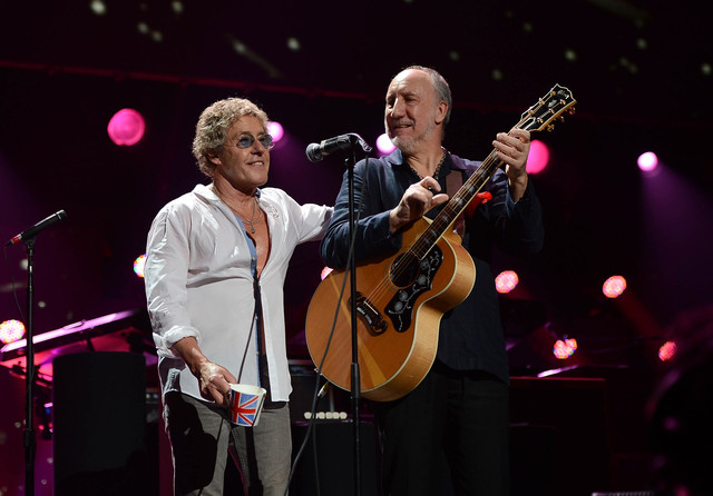 <p>Roger Daltrey and Pete Townshend of The Who perform at the &#39;12-12-12&#39; concert to benefit the victims of Hurricane Sandy at Madison Square Garden on Dec. 12, 2012. The British rock band also donated sound equipment to Queens venue LIC Bar after it was flooded during the storm.</p>