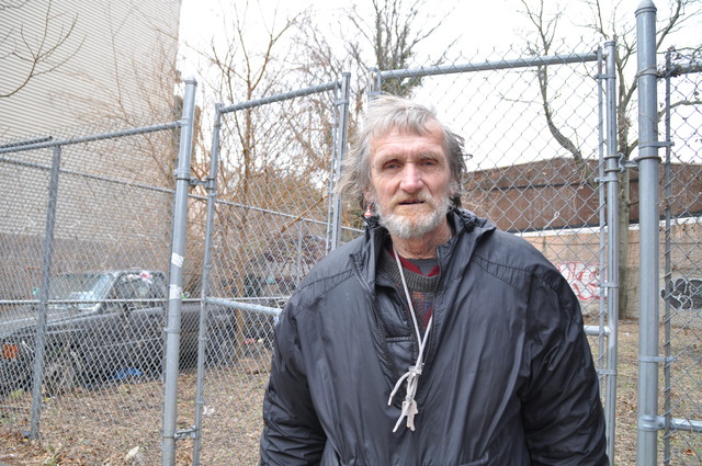 <p>Jerzy Sulek, a longtime Greenpoint resident who sleeps in his pick-up truck and has a handful of cats on his property, is opposed to the development of his neighboring vacant lot into a community garden.</p>