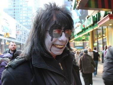 """Alice"" sells tickets for Times Scare in Midtown. He is also a Godzilla consultant."