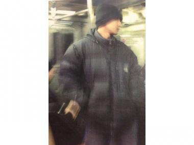 Police released a photo of this man, who allegedly exposed himself to a woman on the 7 Train in Midtown Wednesday afternoon, Feb. 20, 2013.