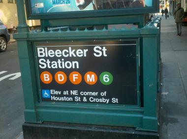 The victim had minor burns after setting himself alight in the Bleecker Street subway station early Friday March 22, 2013