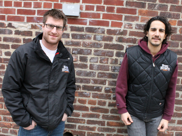 <p>Damian Brown and Chris Gallant, managing partners of The Bronx Brewery.</p>