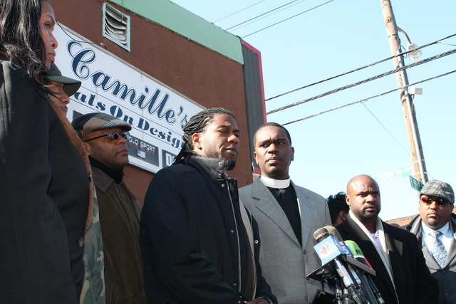 <p>City Councilman Jumaane Williams blamed outside groups for agitating tensions in the neighborhood after the police shooting of Kimani Gray.</p>
