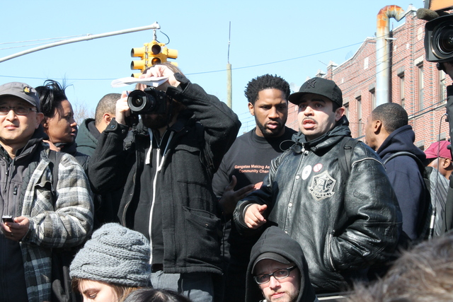 <p>Jose LaSalle was one of the organizers who rallied outside groups to travel to East Flatbush to protest the shooting.</p>