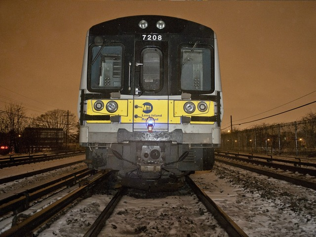 <p>A train derailment disrupted LIRR service Tuesday March 19, 2013.</p>