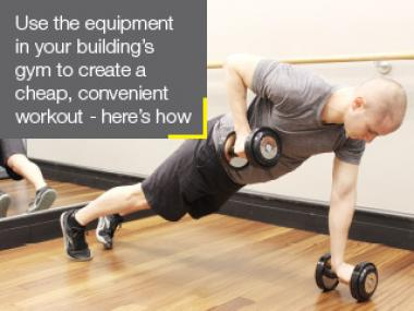 DNAinfo.com New York consulted a trainer for workouts to do in your apartment's gym, no matter how small.