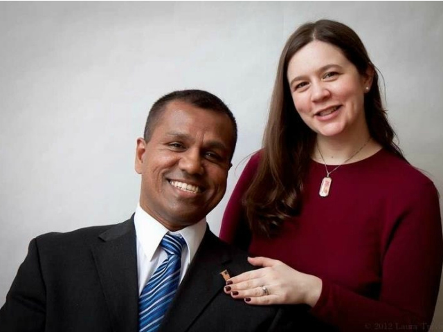 <p>Hill Krishnan who&#39;s running for Jessica Lappin&#39;s District 5 City Counil seat, met his wife, Debbie, while at NYU. He helped her repair a computer problem, he said.</p>