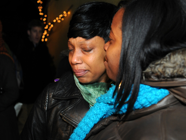 <p>Constance Malcom, the mother of Ramarley Graham, who was shot and killed by police in The Bronx in 2012, attended a vigil for Kimani Gray, who was also shot and killed by police, March 13, 2013.</p>