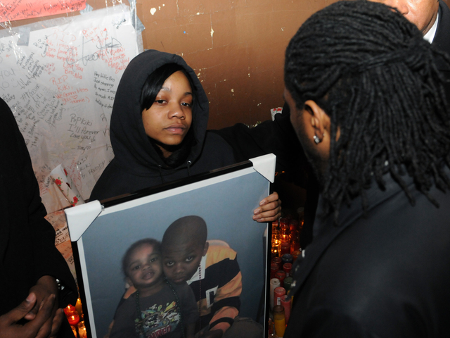 <p>Kimani Gray&#39;s sister attended a vigil for her brother, who was shot and killed by police, March 13, 2013.</p>