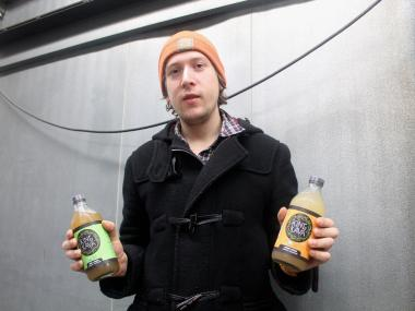 Two former roommates brew and bottle the organic tea drinks at the Organic Food Incubator in Queens.