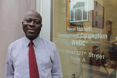 Kofi Boateng, executive director of the West Harlem Development Corporation, is credited with bringing stability to the group following an Attorney General investigation of its spending practices. The group is now focusing its grant-giving to target 13 strategic goals.