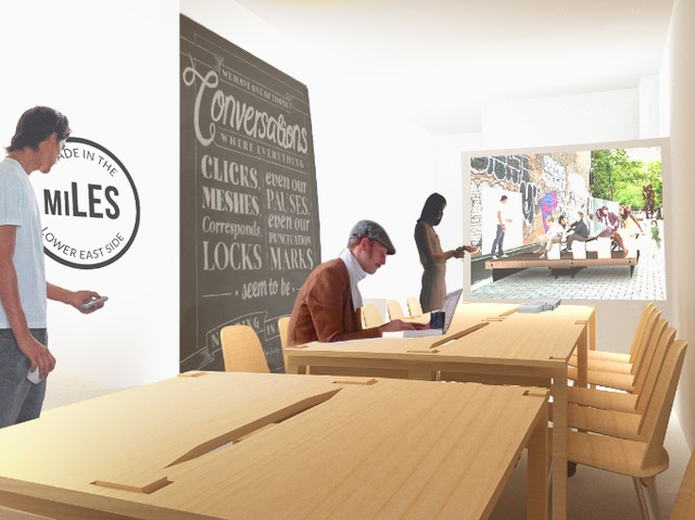 <p>A rendering of how the MiLES storefront will look when it launches April 1 for three months at 75 E. Fourth Street.</p>