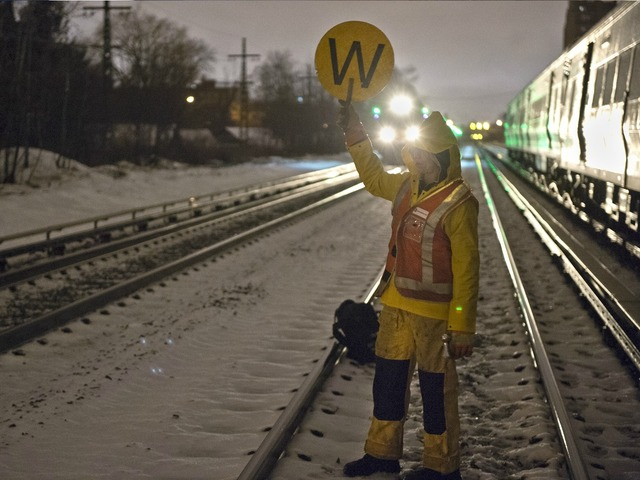 <p>The train derailment Monday March 18, 2013, disrupted the next morning&#39;s rush-hour commute as several trains were canceled and others delayed.</p>