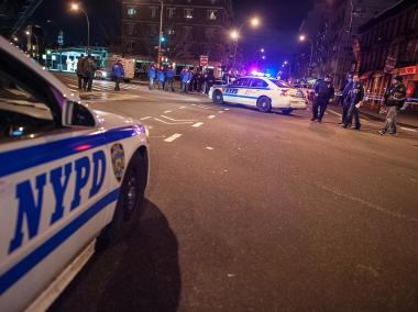 NYPD officers shot and killed a 28-year-old man after he allegedly stabbed his roommate, 58, with a knife, police said.