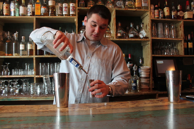 <p>Pachanga Patterson manager Dawid Dabrowicz makes a &ldquo;William Lamport.&rdquo; The Astoria eatery&rsquo;s signature St. Patrick&rsquo;s Day cocktail combines tequila, Jameson Irish Whiskey, lime juice and grapefruit syrup.</p>