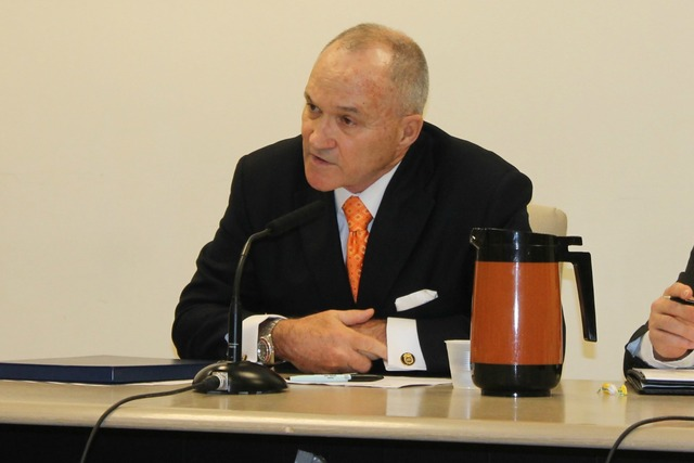 <p>Police Commissioner Ray Kelly got into a heated back-and-forth with City Councilman Jumaane Williams at a City Council budget hearing on March 12, 2013.</p>