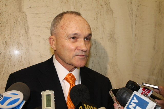 <p>Police Commissioner Ray Kelly shared details about the police-involved shooting following a City Council budget hearing on March 12, 2013.</p>