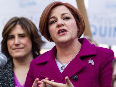 City Council Speaker Christine Quinn formally launched her bid for mayor Sunday.