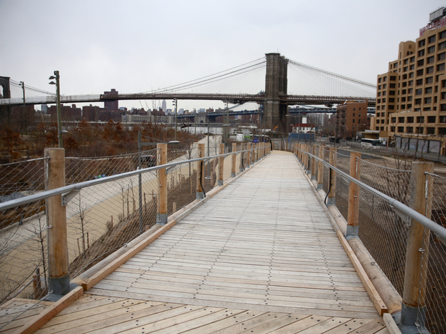 <p>Squibb Bridge was designed by Ted Zoli.</p>