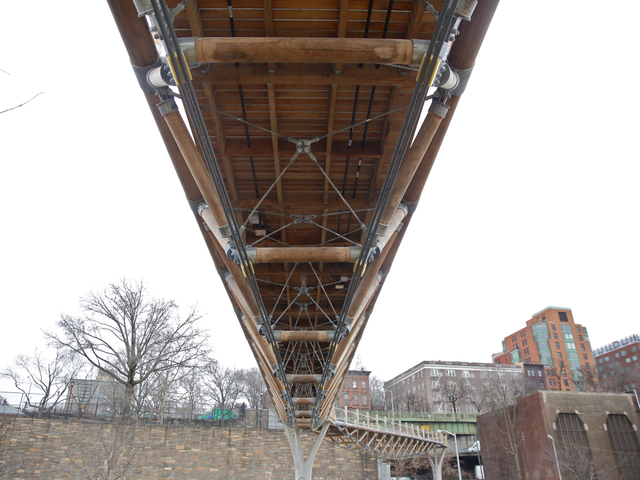 <p>Most of the wood used to build Squibb Bridge came from Pennsylvania and Long Island.</p>