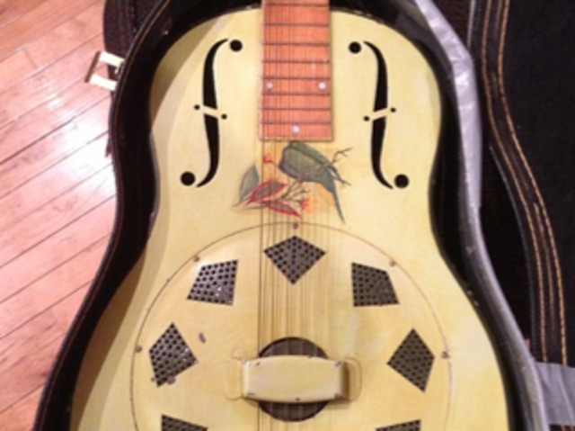 <p>An antique 1929 National guitar that will be sold at TR Crandall Guitars.&nbsp;</p>