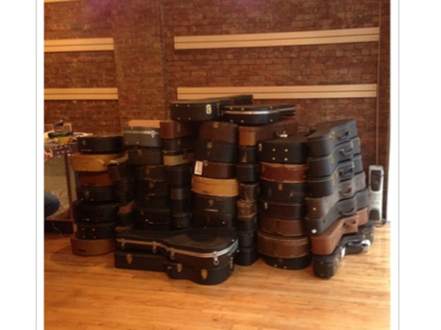 <p>Some of the antique guitars to be sold at TR Crandall Guitars in the East Village when the store and repair shop opens next month.</p>