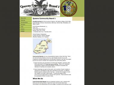 A parody website www.cb1queens.org takes satirical digs at Astoria's Community Board 1.