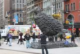 Giant Bird Sculpture Made of 5,000 Nails Flies Into Flatiron