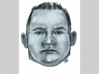 The NYPD released this sketch of a suspect who alleged raped a woman on April 1, 2013, in a Queens cemetery.