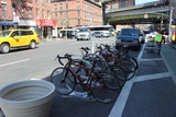 New Corrals Bring Bike Parking to Ninth Avenue