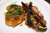 Chicken Picatta with Asparagus and Apple Salad Spruces Up a Classic