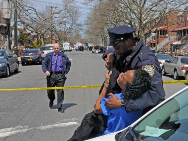 EAST FLATBUSH - Rosette Samuels, 43, allegedly shot and killed her boyfriend and 1-year-old baby son before turning the gun on herself inside their first floor apartment at 805 East 56th Street in Brooklyn. The officer's 19-year-old old son escaped the shooting by jumping out of a rear window before calling 911, police said.